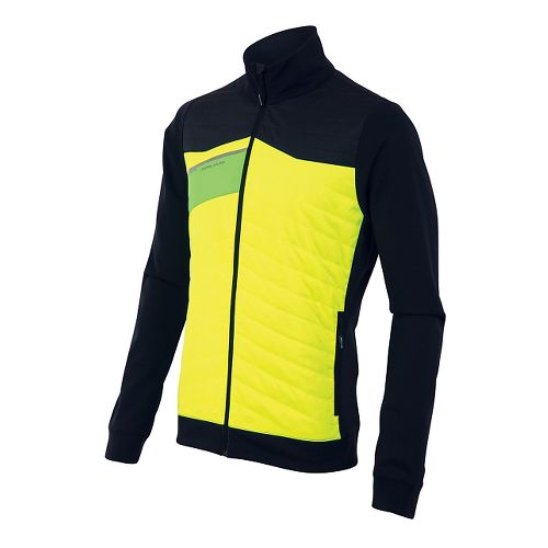 Mens Pearl Izumi Flash Insulator Run Lightweight Jackets - Yellow/Black M