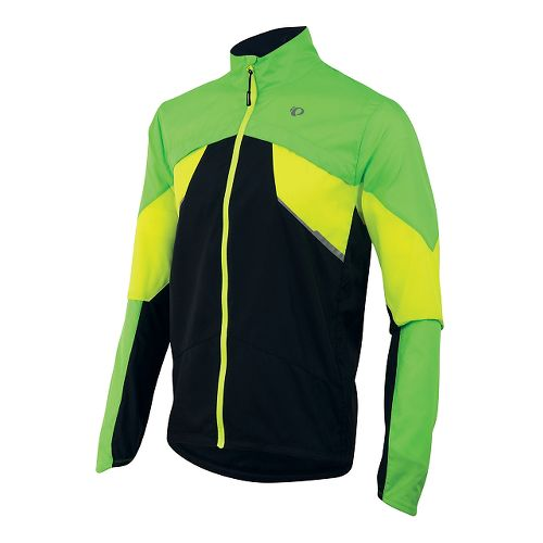 Mens Pearl Izumi Fly Running Jackets - Green/Yellow L