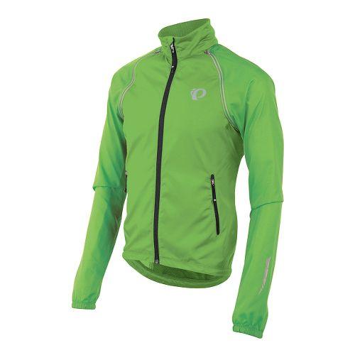 Mens Pearl Izumi Elite Barrier Convertible Lightweight Jackets - Screaming Green XL