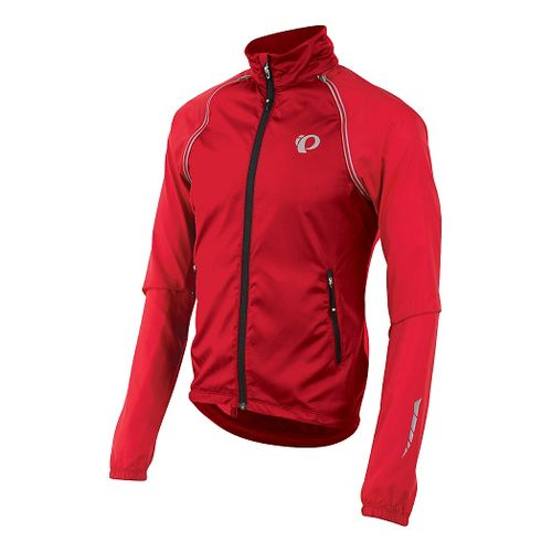 Mens Pearl Izumi Elite Barrier Convertible Running Jackets - True Red XL