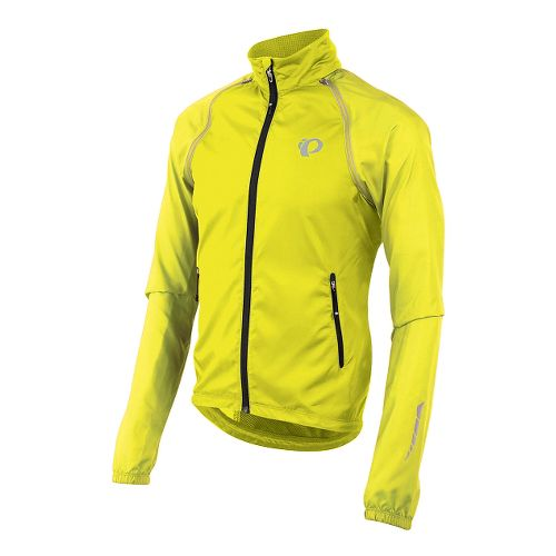 Mens Pearl Izumi Elite Barrier Convertible Running Jackets - Screaming Yellow M