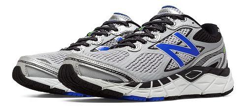 Mens New Balance 840v3 Running Shoe - Silver/Blue 10