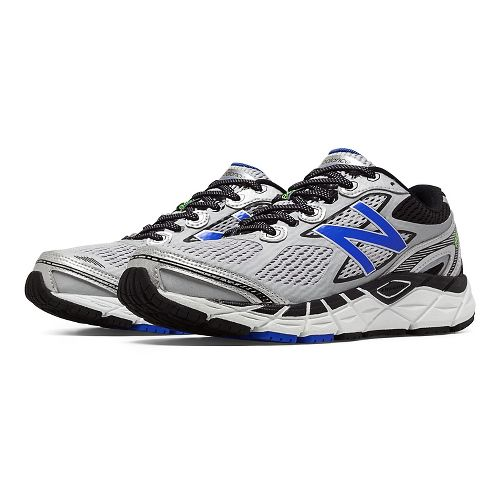 Mens New Balance 840v3 Running Shoe - Silver/Blue 12.5