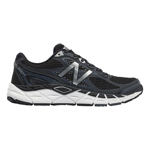 Mens New Balance 840v3 Running Shoe - Black/White 9.5