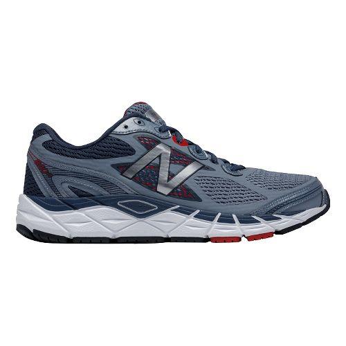 Mens New Balance 840v3 Running Shoe - Grey/Red 10