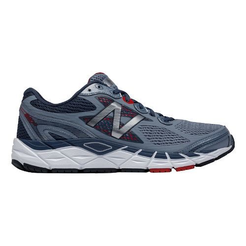 Mens New Balance 840v3 Running Shoe - Grey/Red 8.5