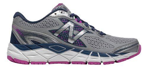 Womens New Balance 840v3 Running Shoe - White/Purple 7.5