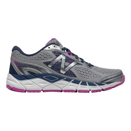 Womens New Balance 840v3 Running Shoe - White/Purple 10.5