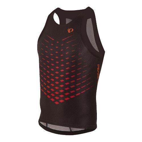 Mens Pearl Izumi PRO In-R-Cool TriI Singlet Sleeveless & Tank Technical Tops - Black/Red Orange ...