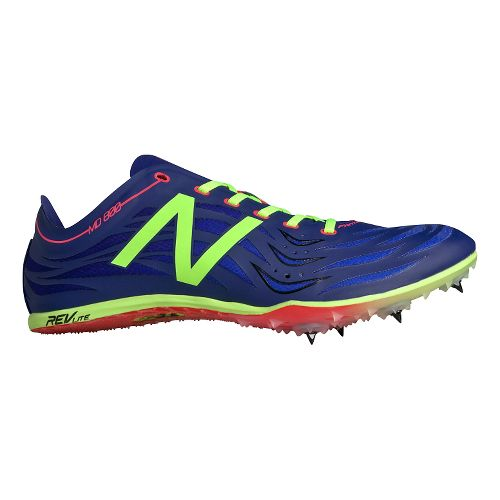 Mens New Balance MD800v4 Track and Field Shoe - Basin/Toxic 10