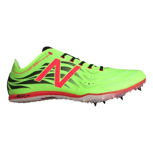 Mens New Balance MD800v4 Track and Field Shoe - Toxic/Flame 8