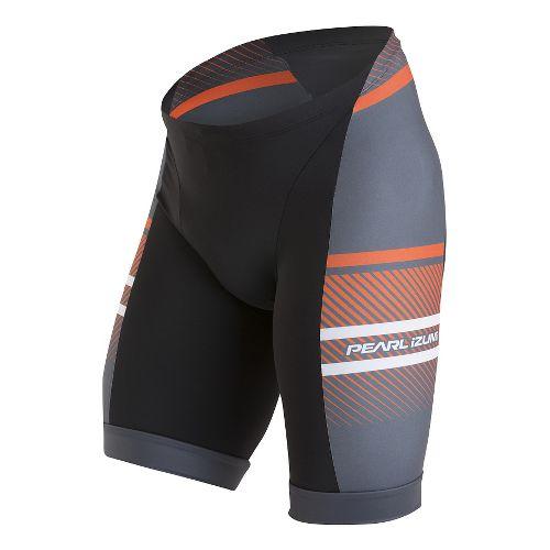 Mens Pearl Izumi ELITE In-R-Cool LTD Tri Unlined Shorts - Stripes Red Orange XL