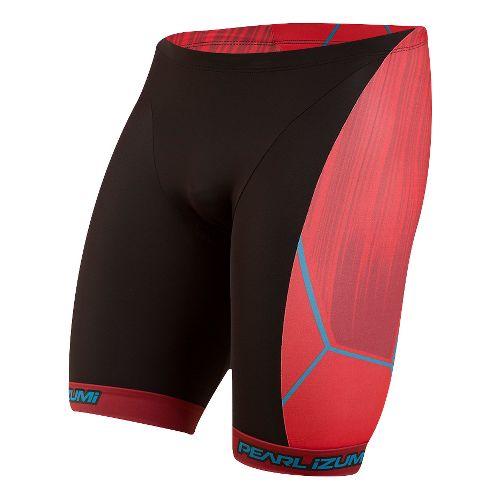 Mens Pearl Izumi ELITE In-R-Cool LTD Tri Unlined Shorts - Vaporize True Red L