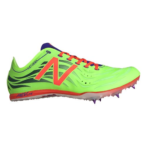Womens New Balance MD800v4 Track and Field Shoe - Toxic/Dragonfly 6