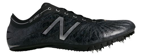 Mens New Balance SD200v1 Track and Field Shoe - Black/Silver 10.5