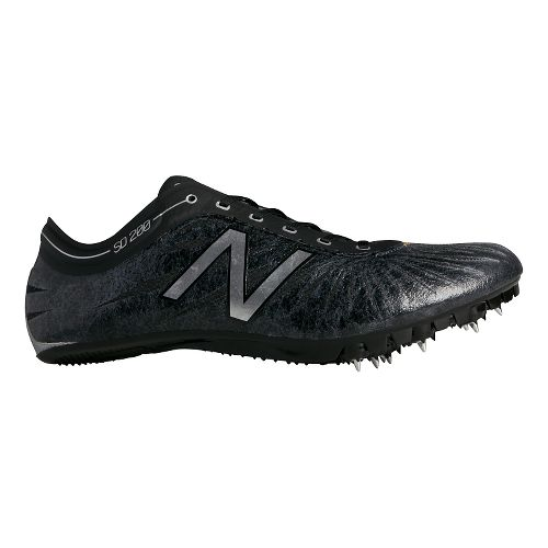 Mens New Balance SD200v1 Track and Field Shoe - Black/Silver 11.5