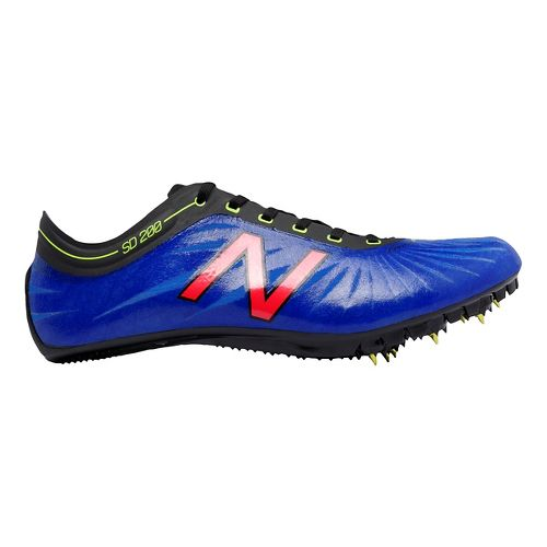 Mens New Balance SD200v1 Track and Field Shoe - Blue/Pink 11.5