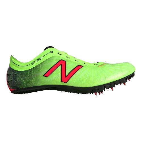 Mens New Balance SD200v1 Track and Field Shoe - Toxic/Black 8.5