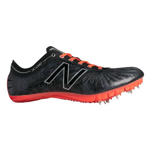 Womens New Balance SD200v1 Track and Field Shoe - Black/Dragonfly 12