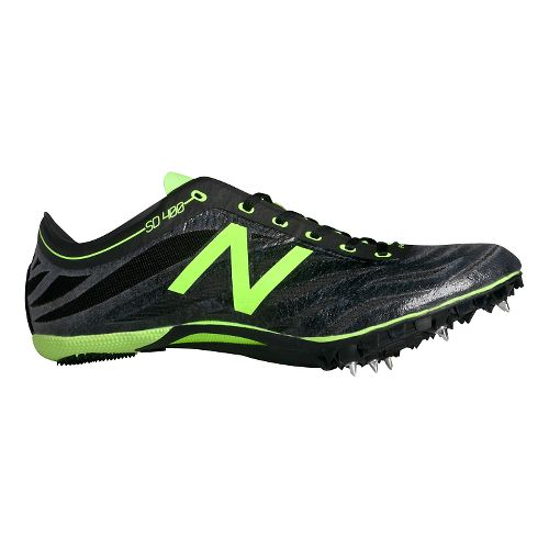 Mens New Balance SD400v3 Track and Field Shoe - Black/Toxic 11