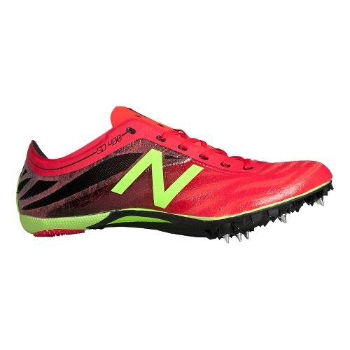 Mens New Balance SD400v3 Track and Field Shoe - Flame/Black 12.5