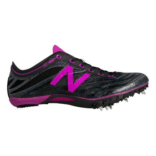 Womens New Balance SD400v3 Track and Field Shoe - Black/Azalea 6.5