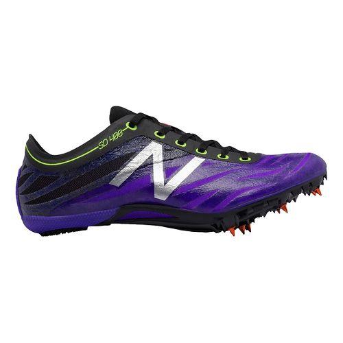 Womens New Balance SD400v3 Track and Field Shoe - Purple/Black 10.5