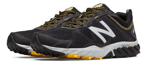 Mens New Balance T610v5 Trail Running Shoe - Black/Gold Rush 9.5