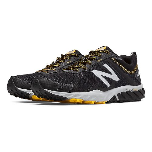 Mens New Balance T610v5 Trail Running Shoe - Black/Gold Rush 7.5