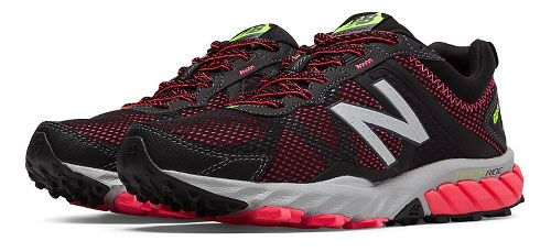 Womens New Balance T610v5 Trail Running Shoe - Black/Pink Zing 5.5