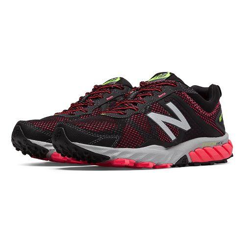 Womens New Balance T610v5 Trail Running Shoe - Black/Pink Zing 6