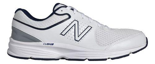 Mens New Balance 411v2 Walking Shoe - White/Blue 12