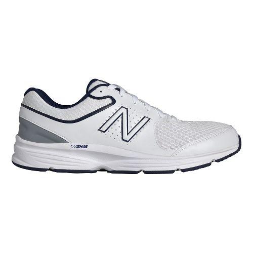 Mens New Balance 411v2 Walking Shoe - White/Blue 11.5