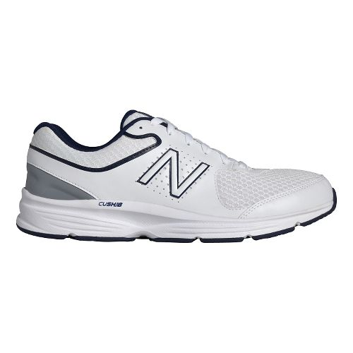 Mens New Balance 411v2 Walking Shoe - White/Blue 9.5