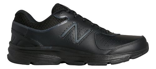 Womens New Balance 411v2 Walking Shoe - Black 7.5