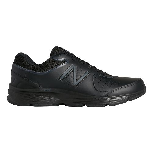 Womens New Balance 411v2 Walking Shoe - Black 10.5