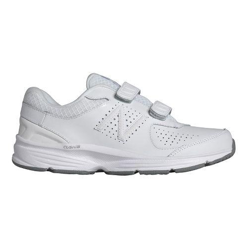 Womens New Balance 411v2 Walking Shoe - White/Velcro 10