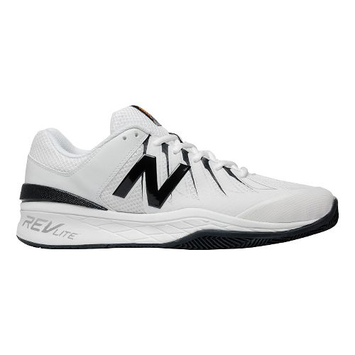 Mens New Balance 1006v1 Court Shoe - Black/White 7