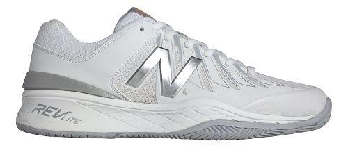 Womens New Balance 1006v1 Court Shoe - White/Silver 5.5