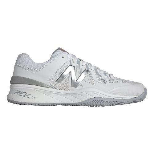 Womens New Balance 1006v1 Court Shoe - White/Silver 10.5