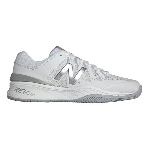 Womens New Balance 1006v1 Court Shoe - White/Silver 6.5
