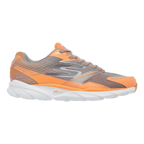 Mens Skechers GO Run Ride 4 - Nite Owl 2.0 Running Shoe - Orange/Grey 11 ...