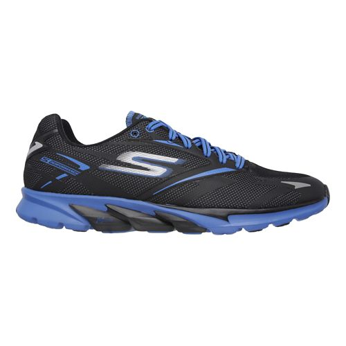 Mens Skechers GO Run 4 - All Weather Running Shoe - Black/Blue 6.5