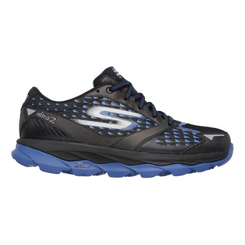 Mens Skechers GO Run Ultra 2 - All Weather Running Shoe - Black/Blue 14