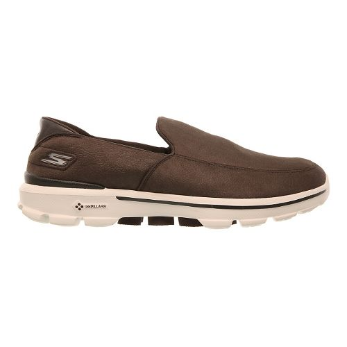 Mens Skechers GO Walk 3 - LT Walking Shoe - Chocolate 7.5