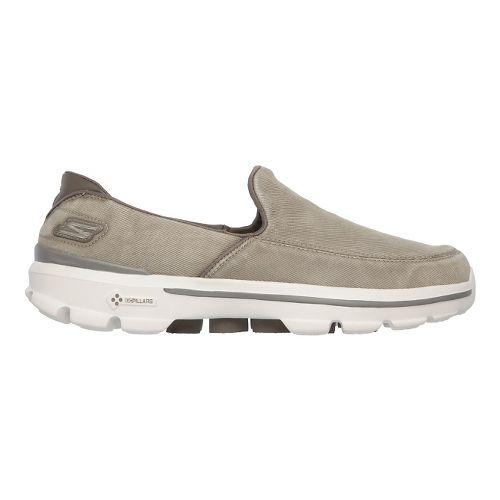 Mens Skechers GO Walk 3 - Unwind Walking Shoe - Khaki 10.5
