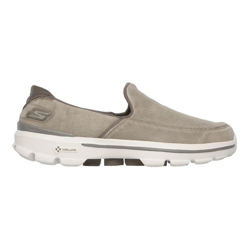 Mens Skechers GO Walk 3 - Unwind Walking Shoe - Khaki 9.5