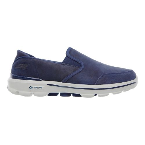 Mens Skechers GO Walk 3 - Task Walking Shoe - Navy/Gray 14
