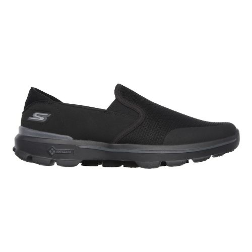 Mens Skechers GO Walk 3 - Charge Walking Shoe - Black 10.5