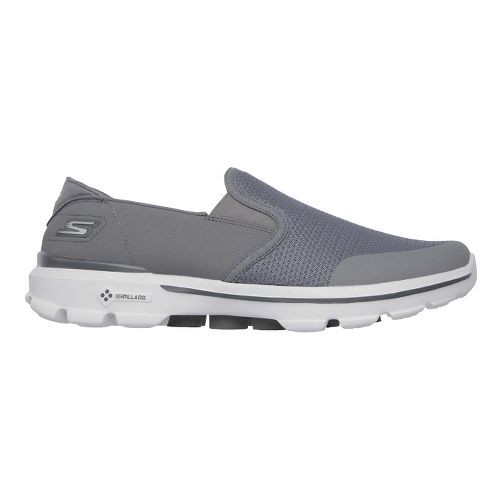 Mens Skechers GO Walk 3 - Charge Walking Shoe - Charcoal 11